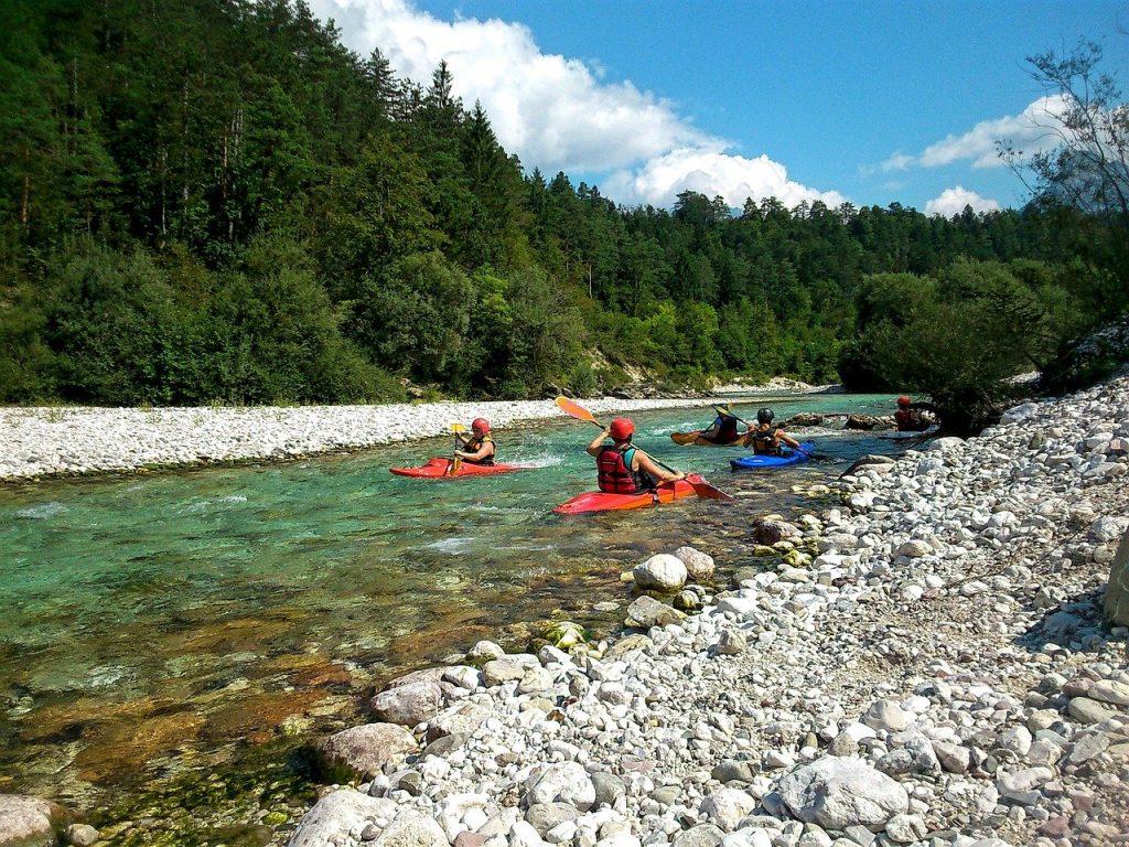 Kayaking in the mountains